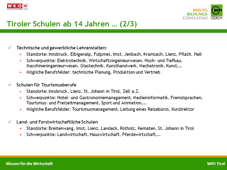 Tiroler Schulen ab 14 Jahren … (2/3)
