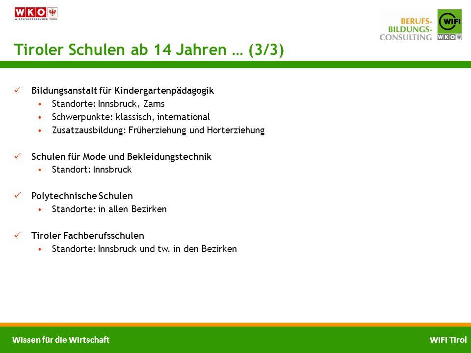 Tiroler Schulen ab 14 Jahren … (3/3)