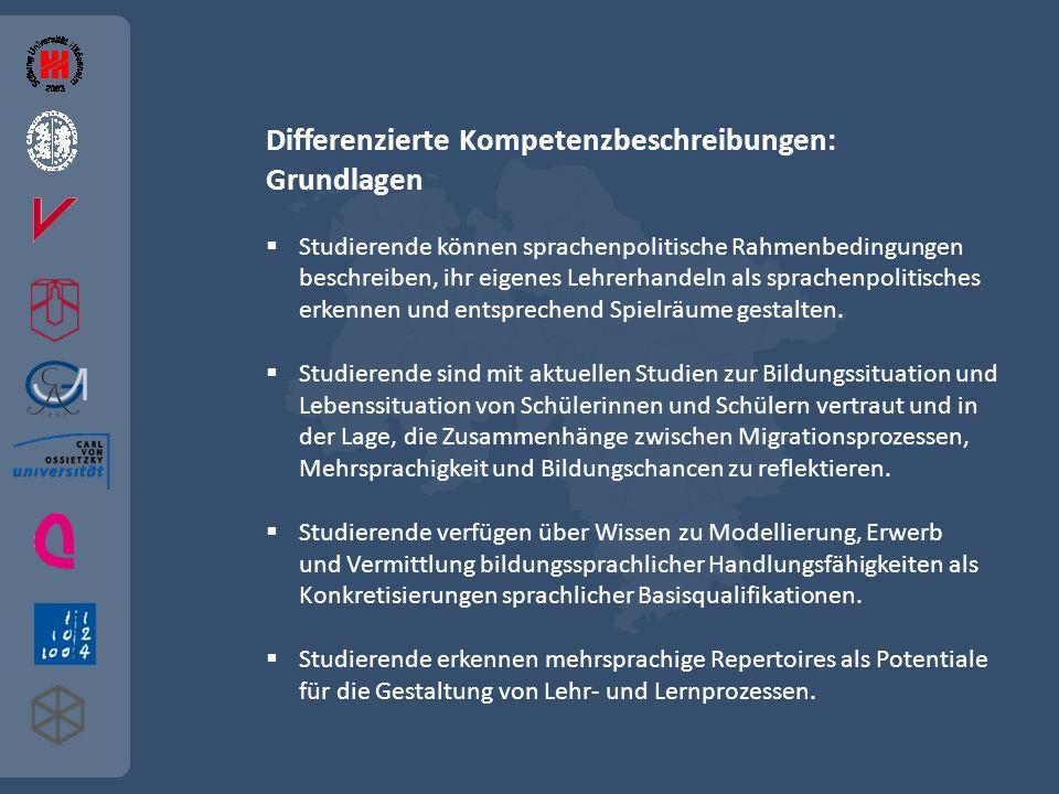 Differenzierte Kompetenzbeschreibungen: Grundlagen
