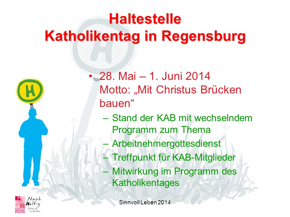 Haltestelle Katholikentag in Regensburg