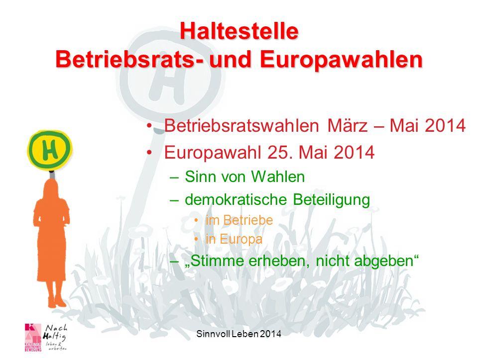 Haltestelle Betriebsrats- und Europawahlen