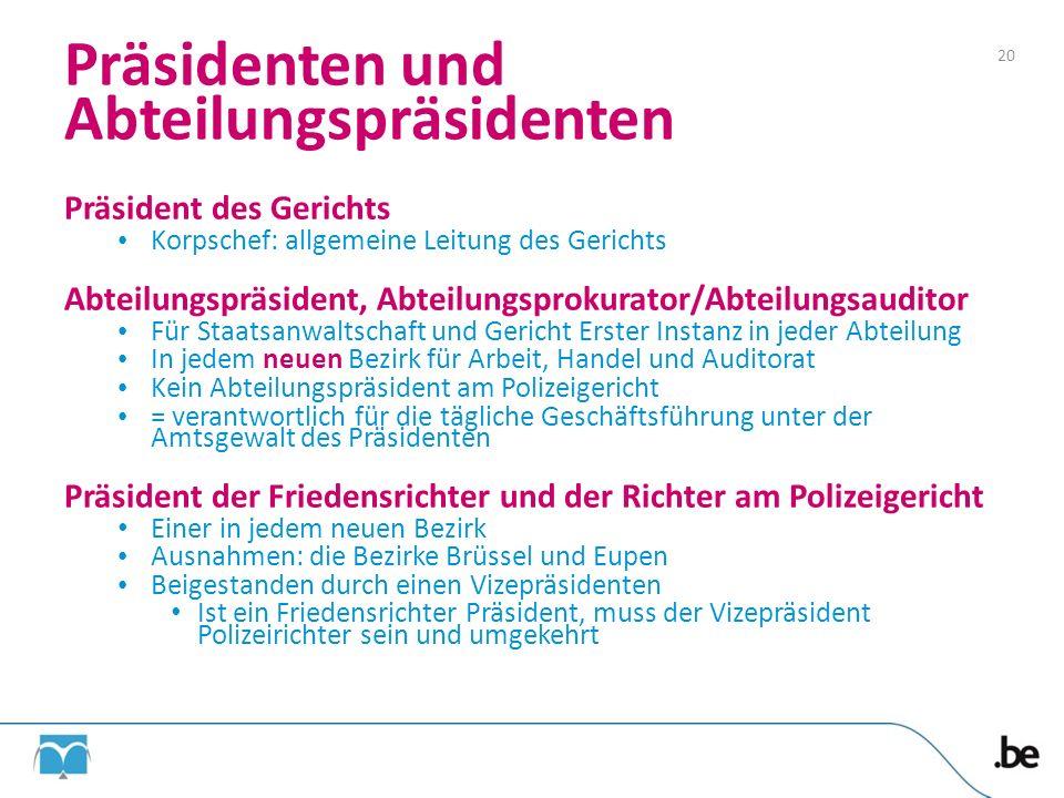 Präsidenten und Abteilungspräsidenten