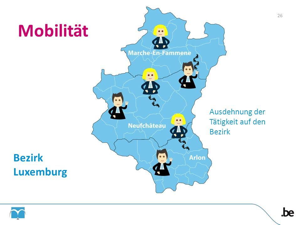 26 Mobilität Ausdehnung der Tätigkeit auf den Bezirk Bezirk Luxemburg