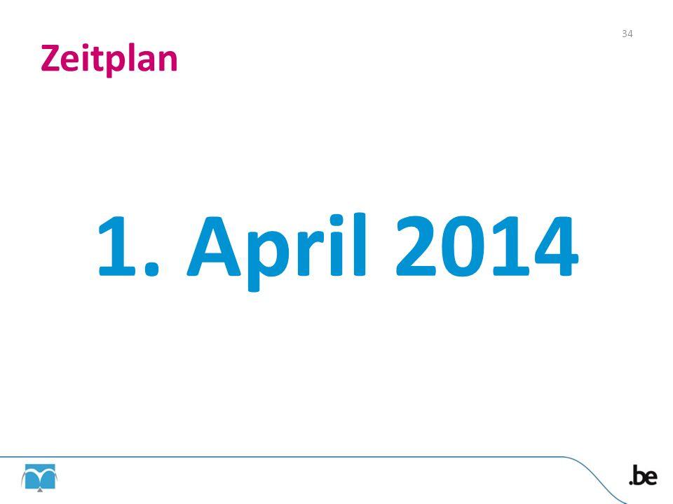 Zeitplan 1. April 2014
