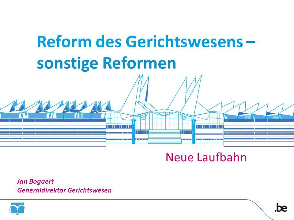 Reform des Gerichtswesens – sonstige Reformen