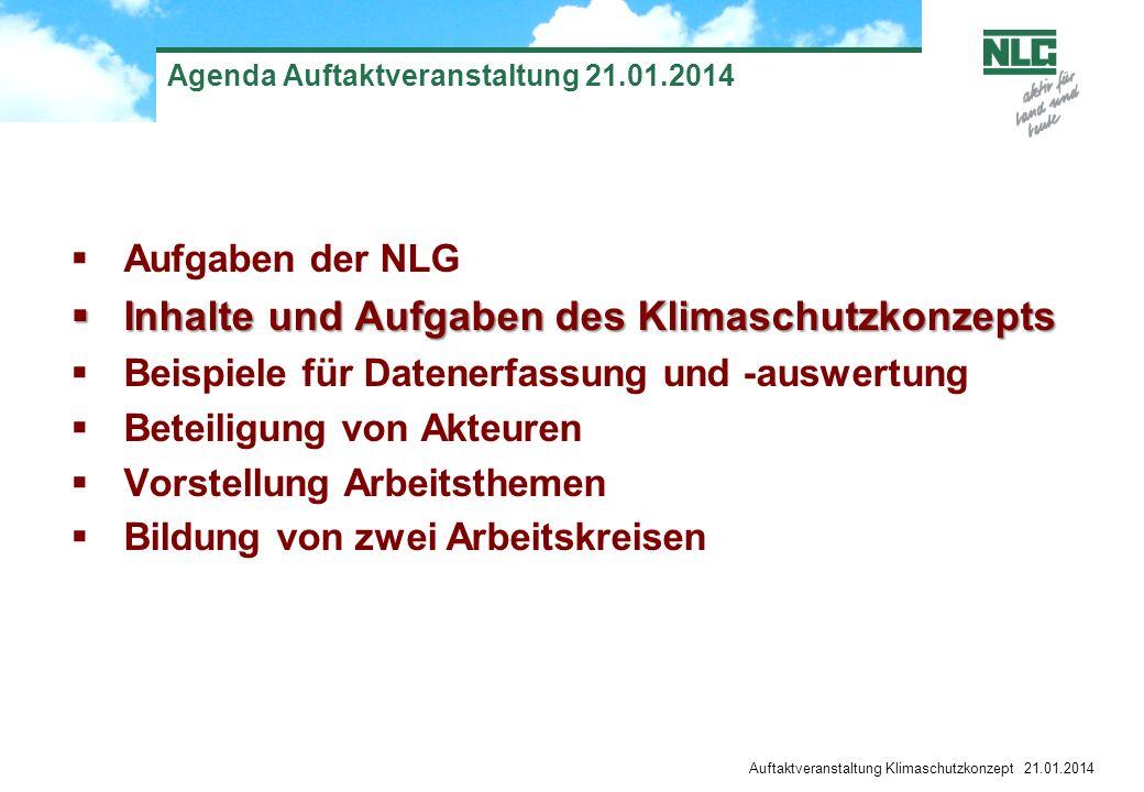 Agenda Auftaktveranstaltung 21.01.2014
