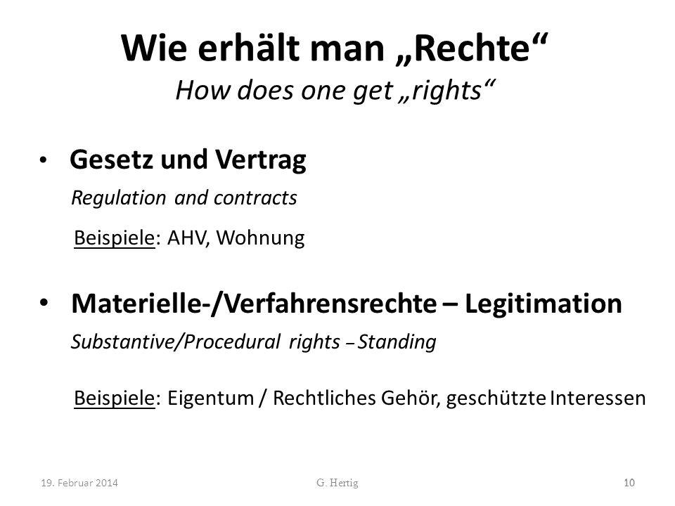 "Wie erhält man ""Rechte How does one get ""rights"