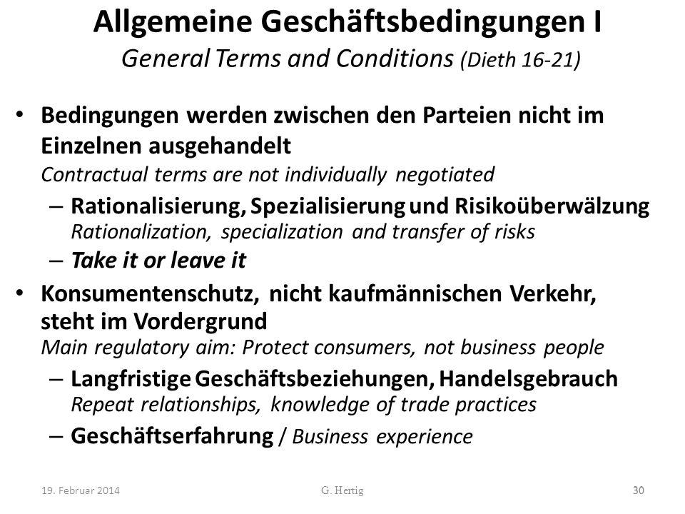Allgemeine Geschäftsbedingungen I General Terms and Conditions (Dieth 16-21)