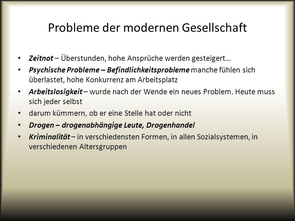 Probleme der modernen Gesellschaft