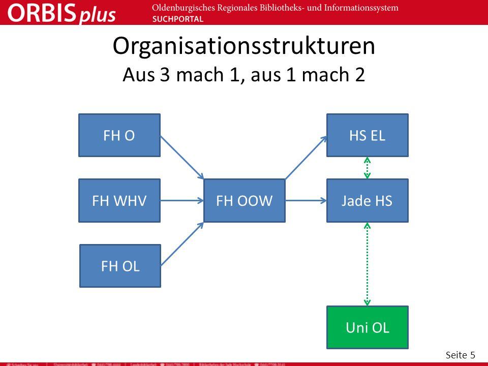 Organisationsstrukturen Aus 3 mach 1, aus 1 mach 2