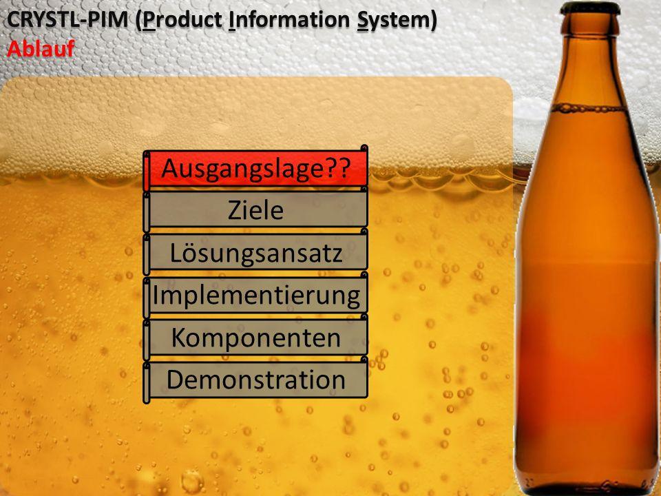 CRYSTL-PIM (Product Information System) Ablauf