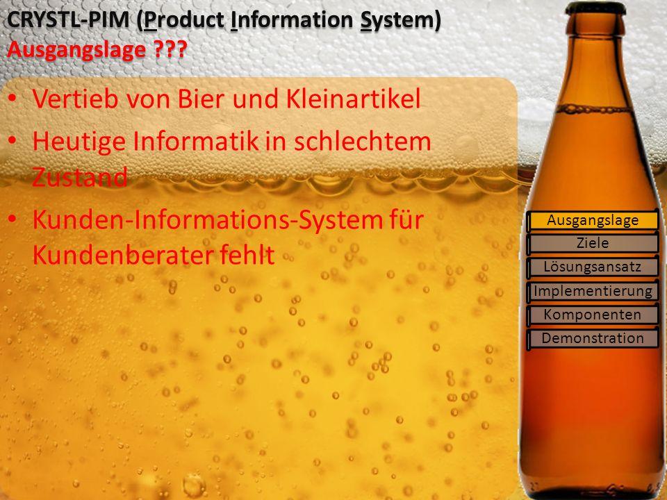 CRYSTL-PIM (Product Information System) Ausgangslage