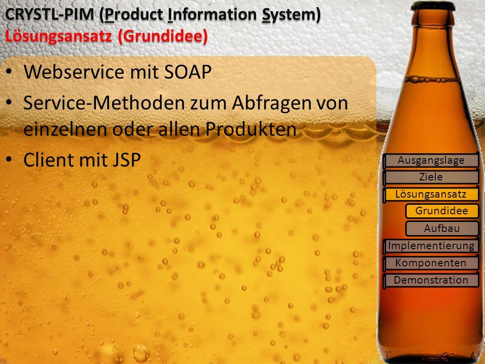 CRYSTL-PIM (Product Information System) Lösungsansatz (Grundidee)