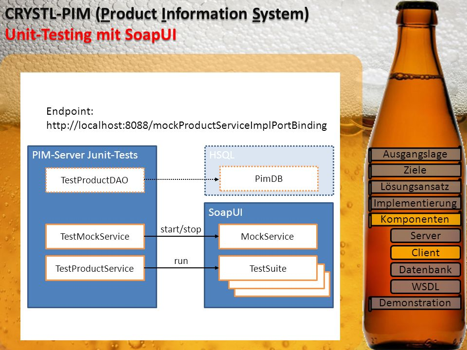 CRYSTL-PIM (Product Information System) Unit-Testing mit SoapUI