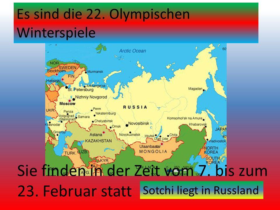 Sie finden in der Zeit vom 7. bis zum 23. Februar statt