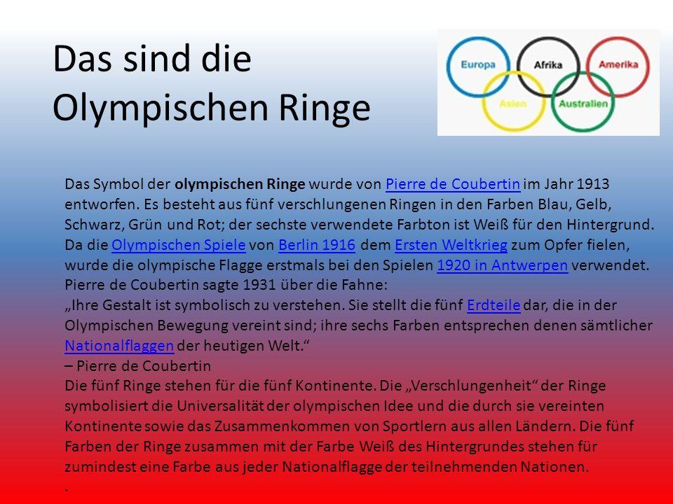 Das sind die Olympischen Ringe