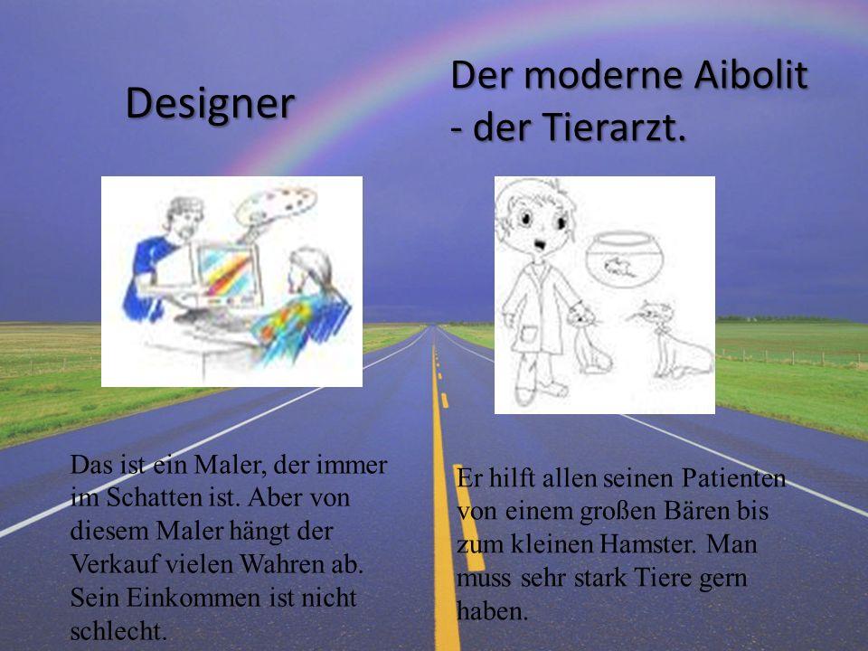 Designer Der moderne Aibolit - der Tierarzt.
