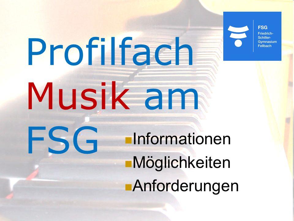 Profilfach Musik am FSG