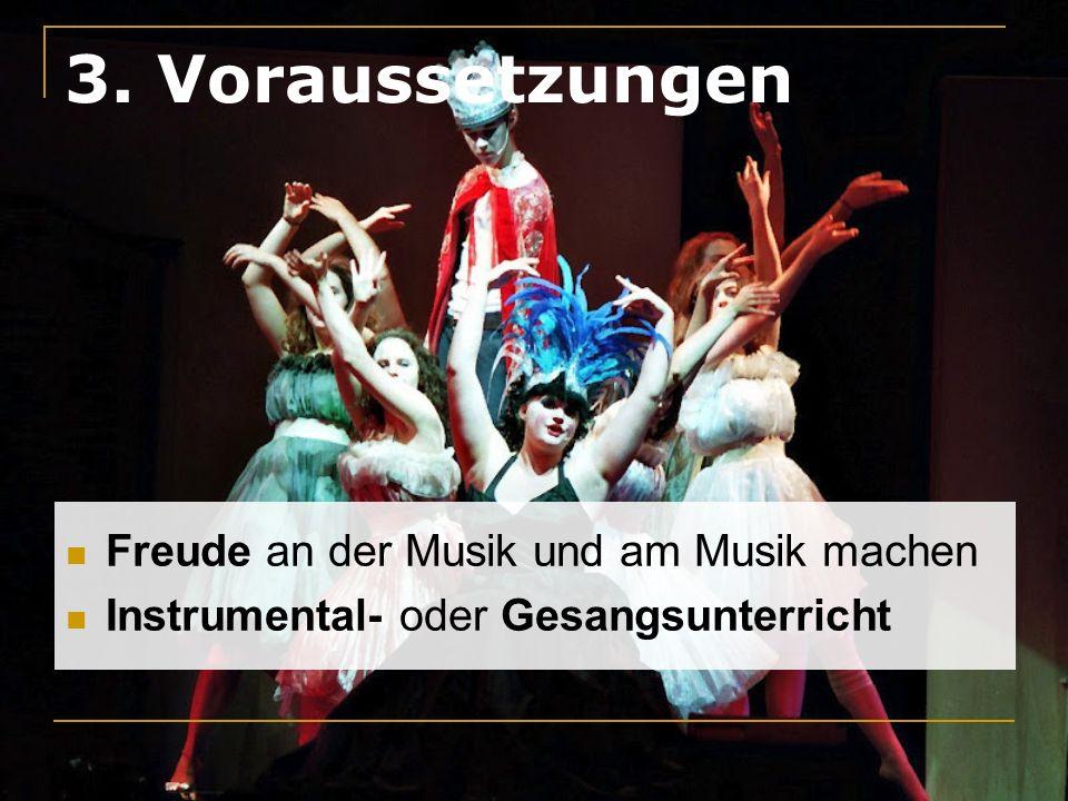3. Voraussetzungen Freude an der Musik und am Musik machen