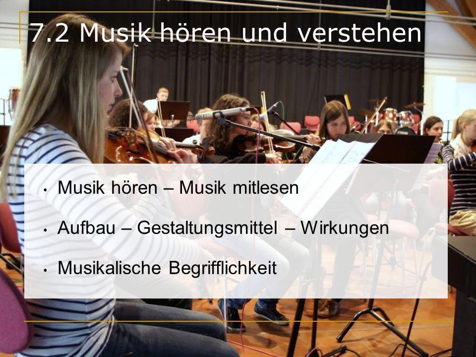 7.2 Musik hören und verstehen