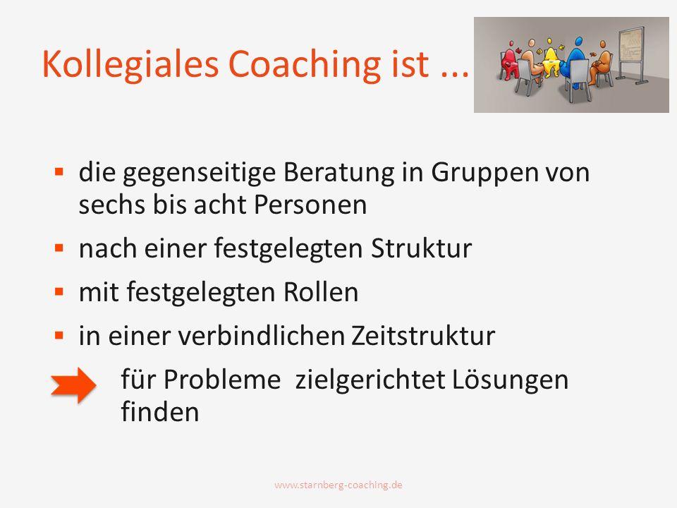 Kollegiales Coaching ist ...