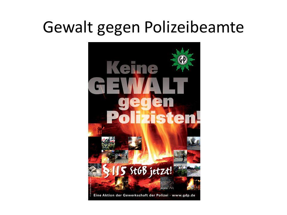 Gewalt gegen Polizeibeamte