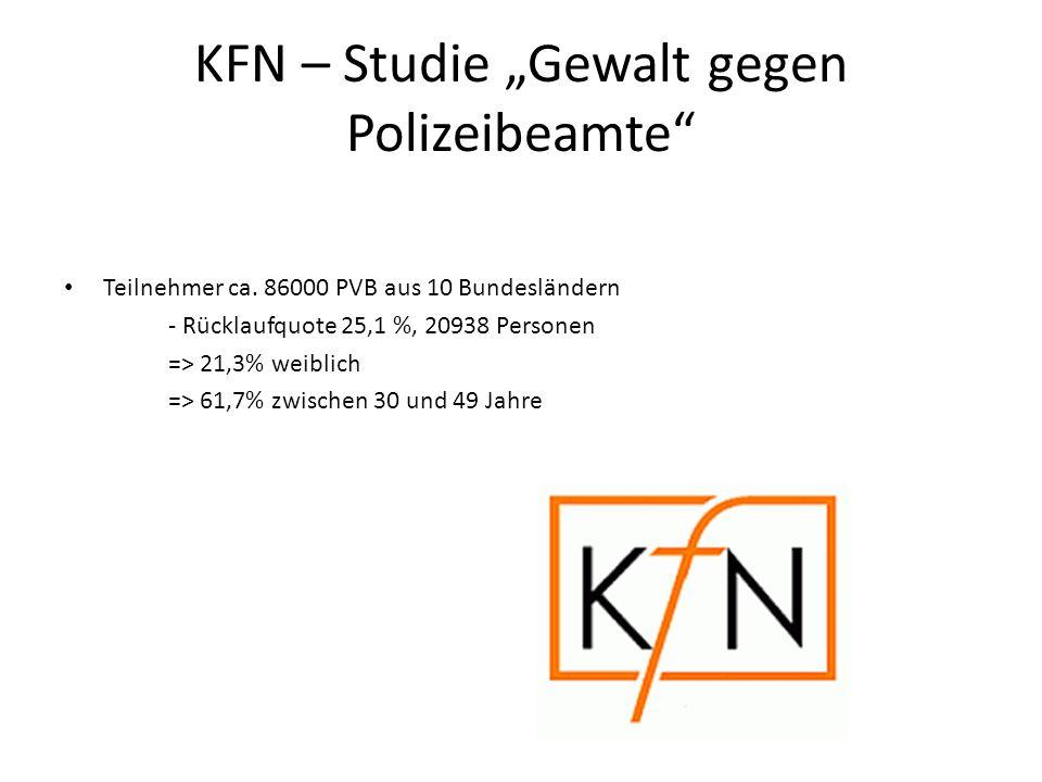 """KFN – Studie """"Gewalt gegen Polizeibeamte"""