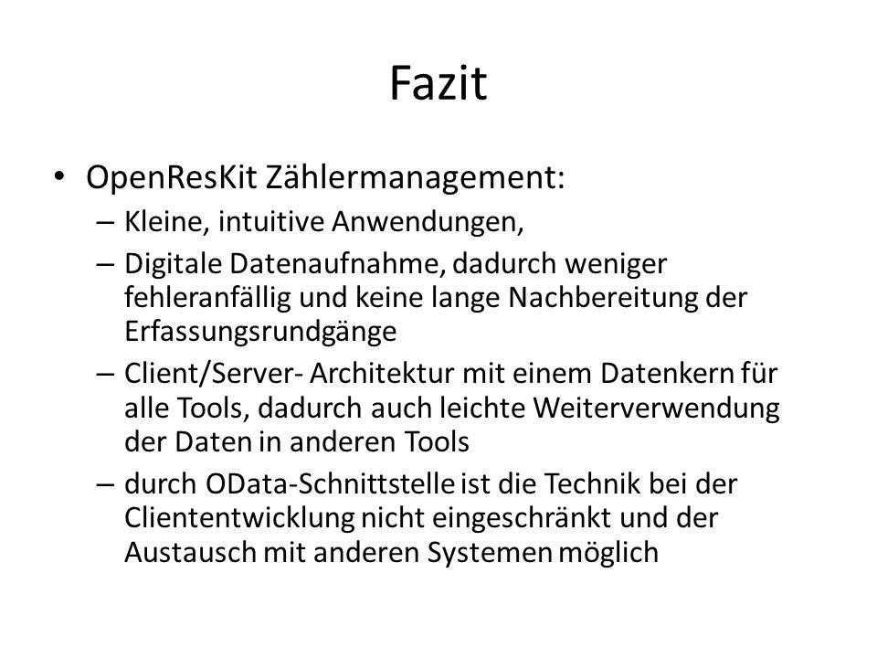 Fazit OpenResKit Zählermanagement: Kleine, intuitive Anwendungen,