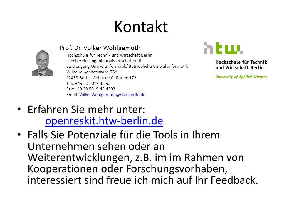 Kontakt Erfahren Sie mehr unter: openreskit.htw-berlin.de