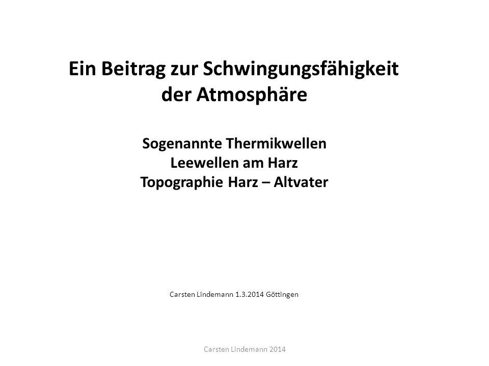 Sogenannte Thermikwellen Topographie Harz – Altvater