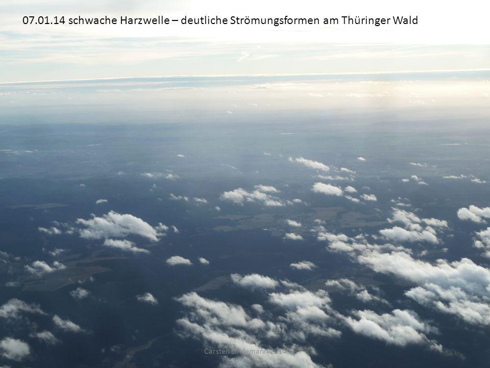 07.01.14 schwache Harzwelle – deutliche Strömungsformen am Thüringer Wald