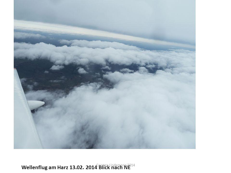 Wellenflug am Harz 13.02. 2014 Blick nach NE