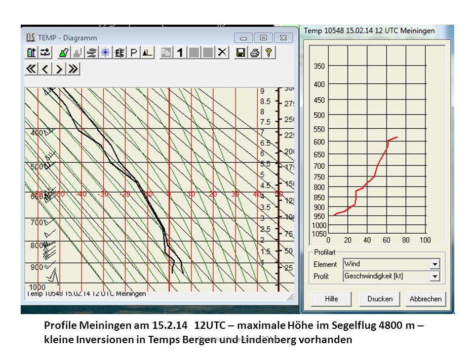 kleine Inversionen in Temps Bergen und Lindenberg vorhanden
