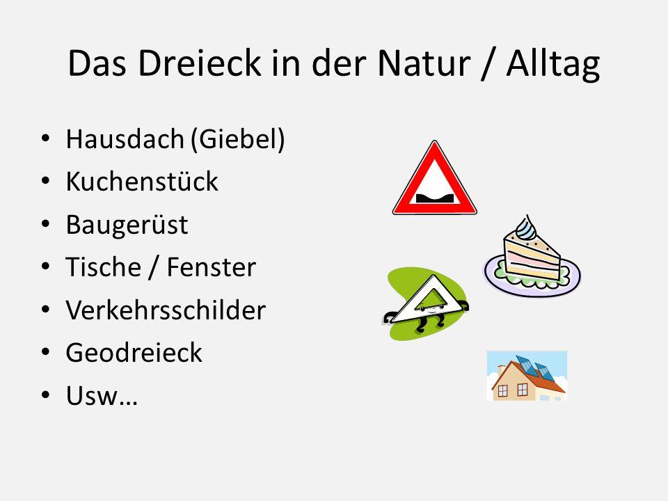 Das Dreieck in der Natur / Alltag