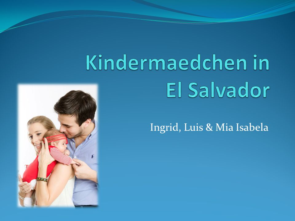 Kindermaedchen in El Salvador