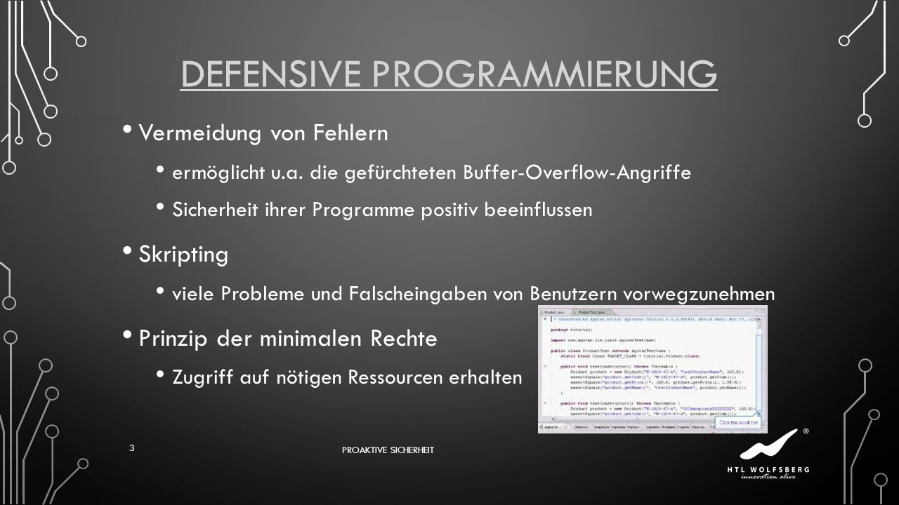 Defensive Programmierung