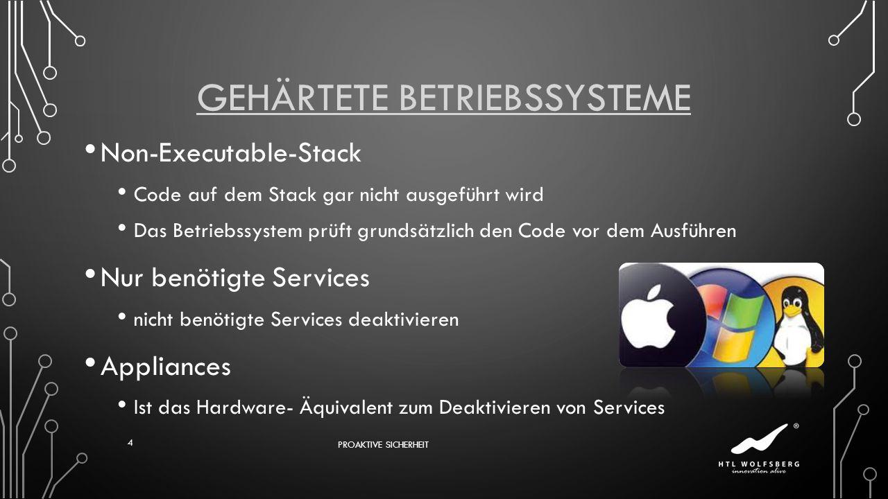 Gehärtete Betriebssysteme