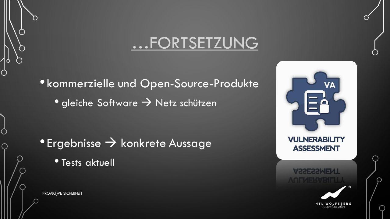 …Fortsetzung kommerzielle und Open-Source-Produkte