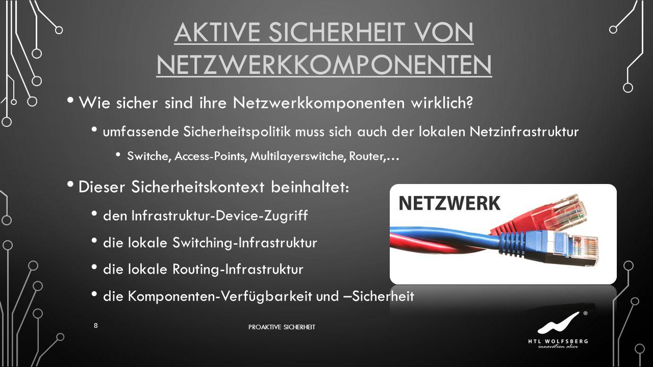 Aktive Sicherheit von Netzwerkkomponenten