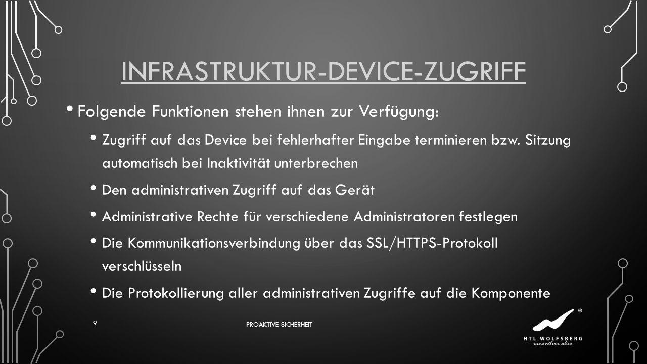Infrastruktur-Device-Zugriff