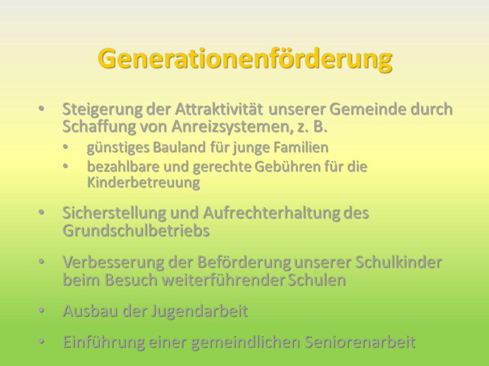 Generationenförderung