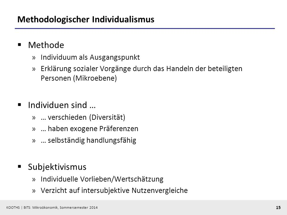 Methodologischer Individualismus