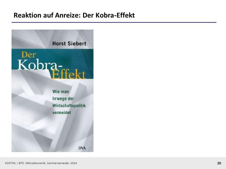Reaktion auf Anreize: Der Kobra-Effekt
