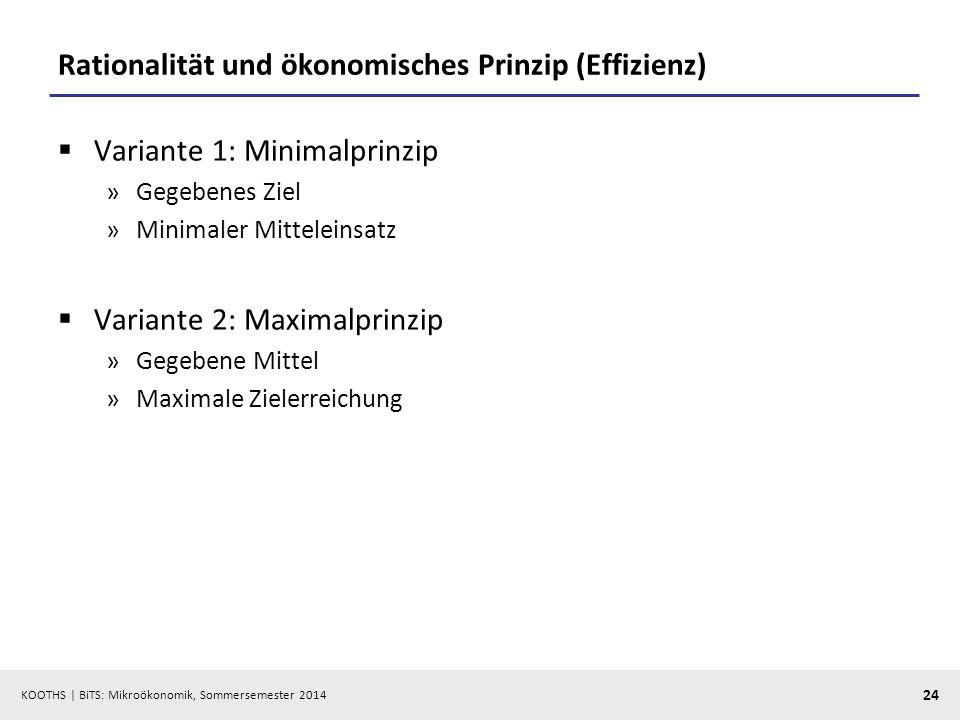 Rationalität und ökonomisches Prinzip (Effizienz)