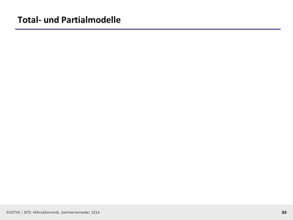 Total- und Partialmodelle