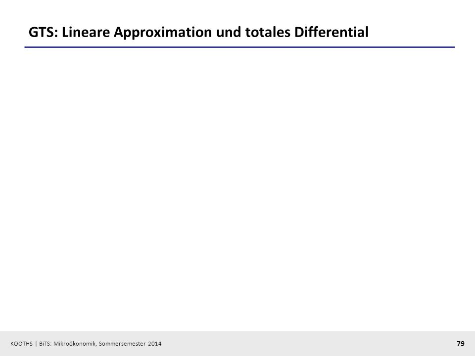GTS: Lineare Approximation und totales Differential