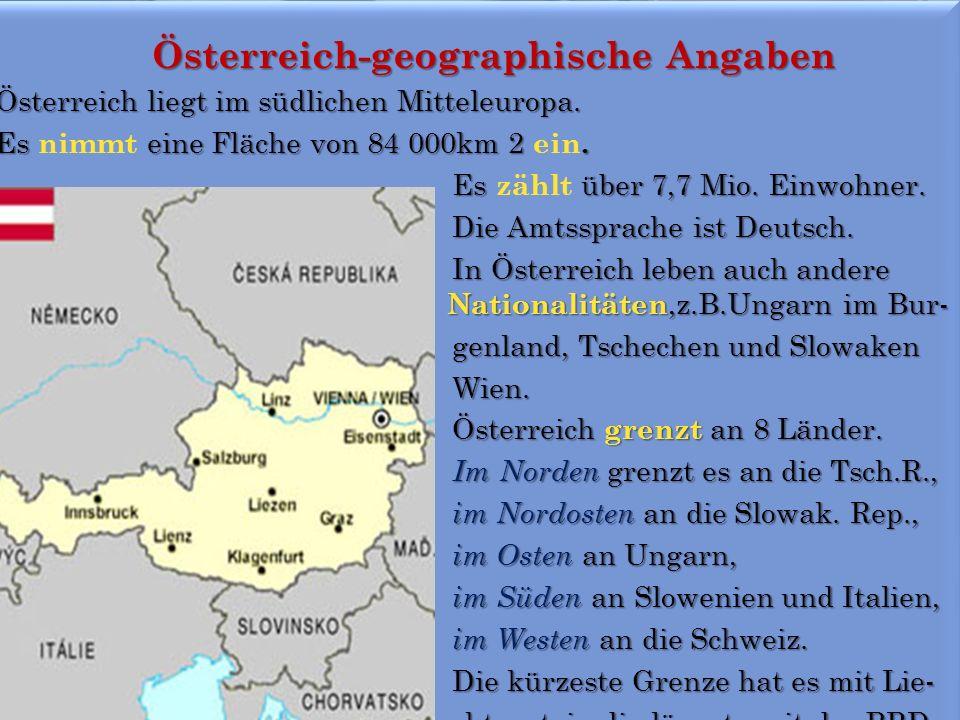 Österreich-geographische Angaben