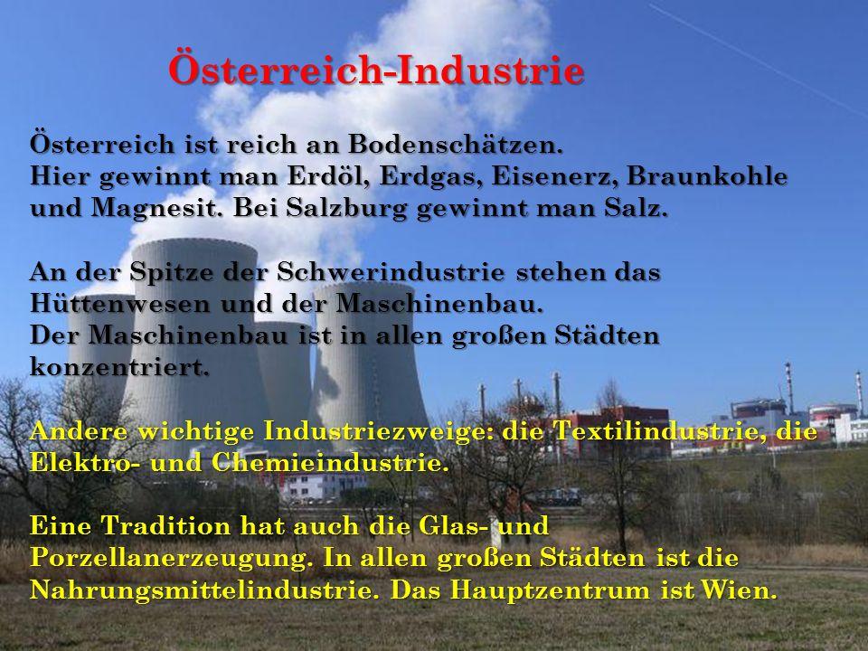 Österreich ist reich an Bodenschätzen.