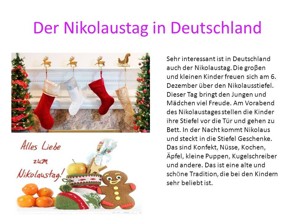 Der Nikolaustag in Deutschland