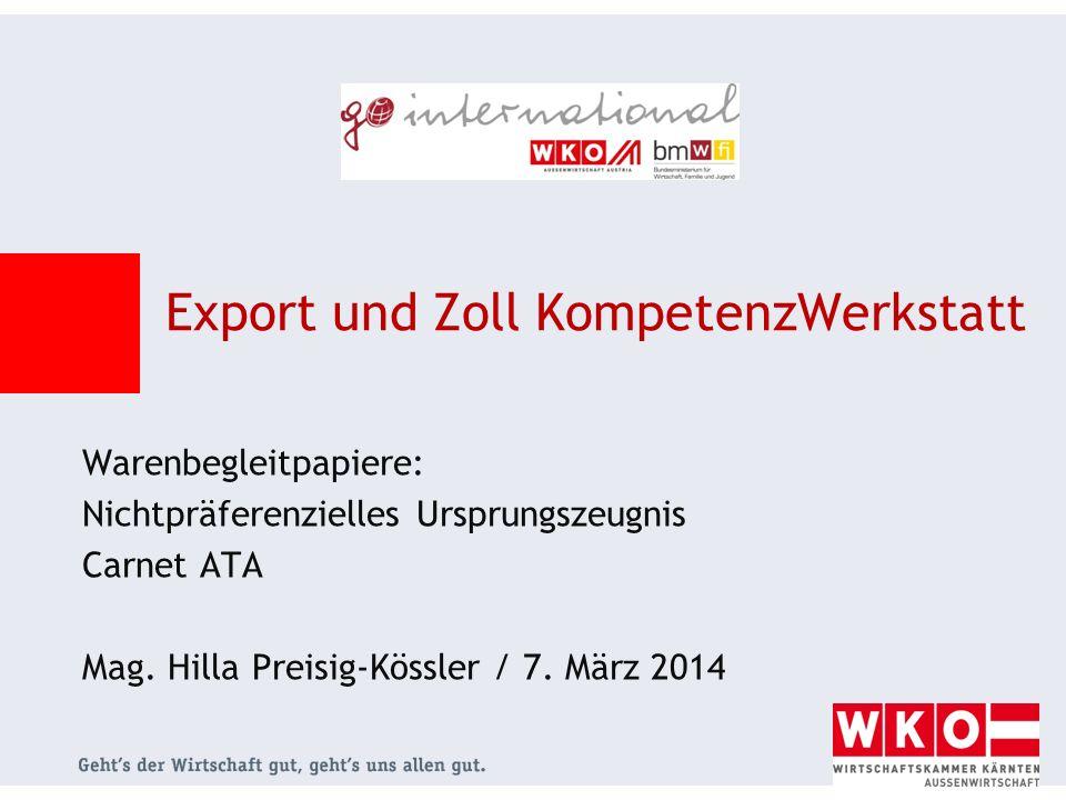 Export und Zoll KompetenzWerkstatt
